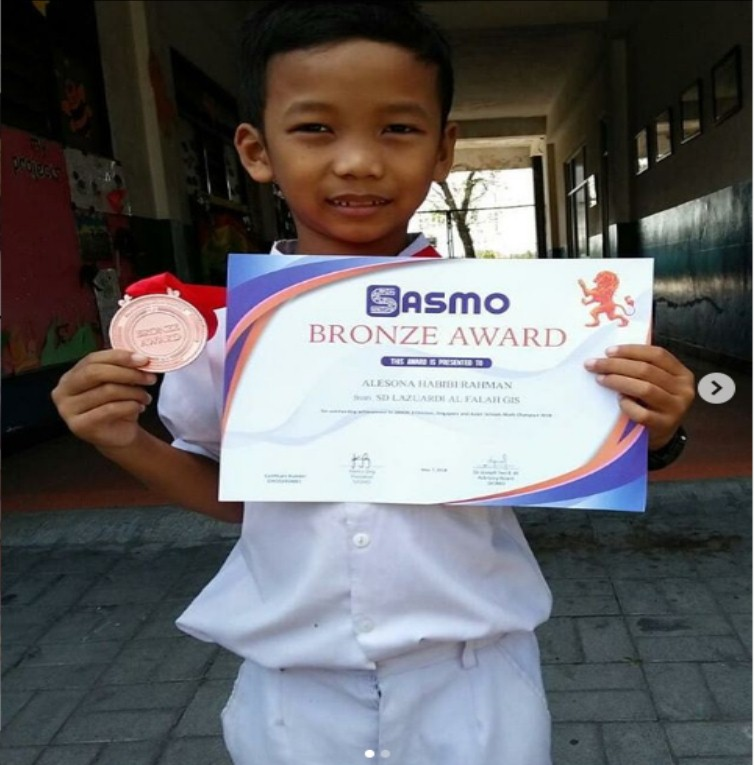 Bronze Medal for Math Olympiad